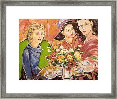 Tea Time At The Ywca Framed Print by Ingrid Dohm