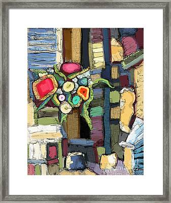 Framed Print featuring the painting Tea Time by Carrie Joy Byrnes
