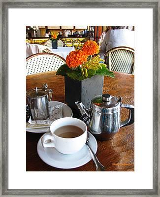 Tea Time Framed Print by Doreen Whitelock