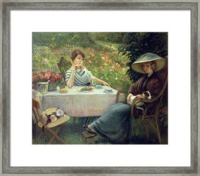 Tea Time Framed Print by Jacques Jourdan