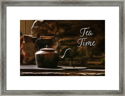Tea Time Framed Print by Lori Deiter