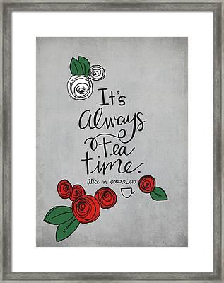 Tea Time Framed Print by Nancy Ingersoll