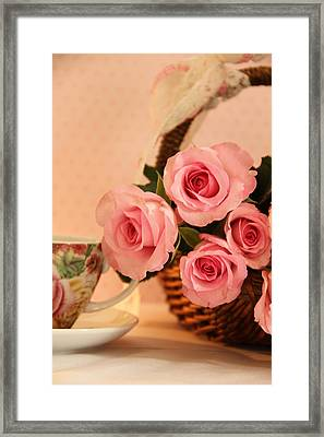 Tea Time Roses Framed Print