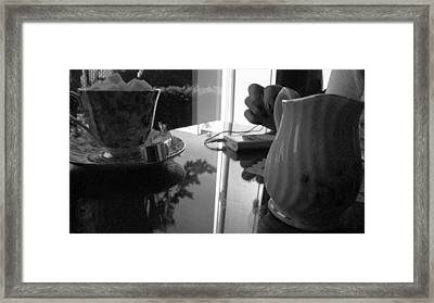 Tea Time With Music Framed Print by Michael Lee