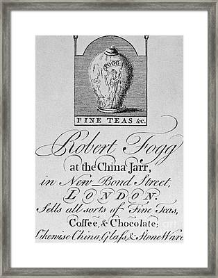 Tea Trade Card, C1770 Framed Print by Granger