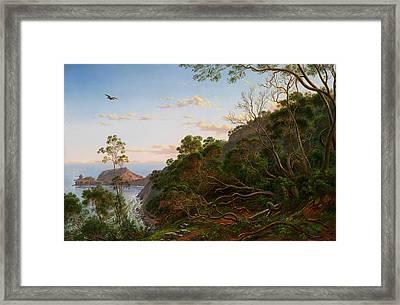 Tea Trees Near Cape Schanck Victoria Framed Print by Eugene von Guerard
