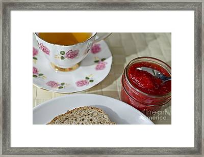 Tea With Bread And Jam  Framed Print by Maria Janicki