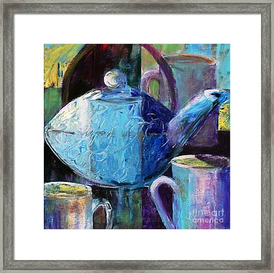 Framed Print featuring the photograph Tea With Friends by Priti Lathia