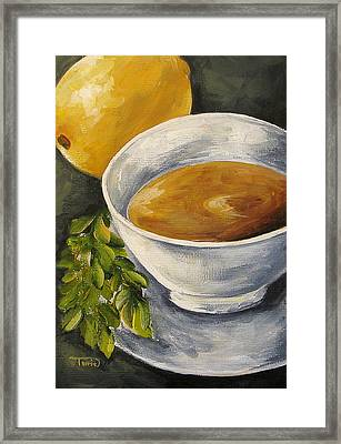 Tea With Mint And Lemon Framed Print by Torrie Smiley