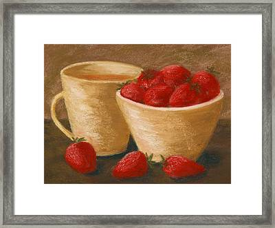 Tea With Strawberries Framed Print