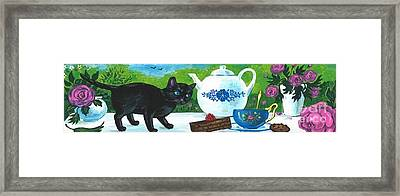 Tea With The Ladies Framed Print