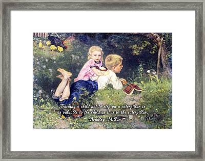 Teach Compassion Framed Print