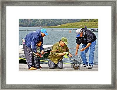 Teach Him To Fish Framed Print