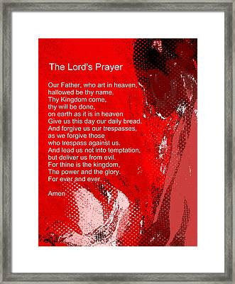 Teach Me How To Pray Framed Print by Fania Simon