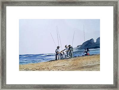 Teach Them To Fish Framed Print by Tim Johnson
