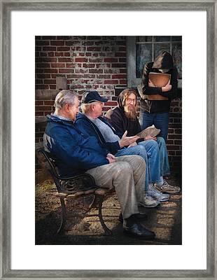 Teacher - The Scholars Framed Print by Mike Savad