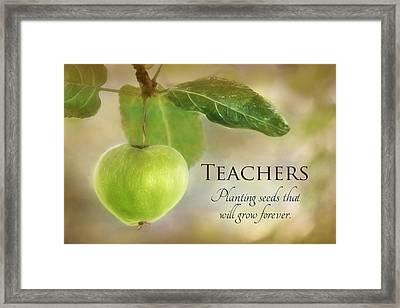 Teachers Framed Print by Lori Deiter
