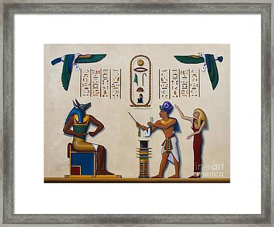 Teaching An Old God New Tricks Framed Print by Richard Deurer