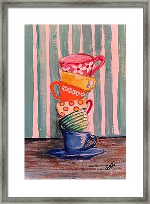 Teacups Framed Print