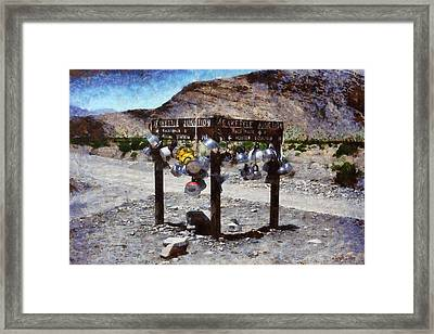 Teakettle Junction At Death Valley - Pa Framed Print by Leonardo Digenio
