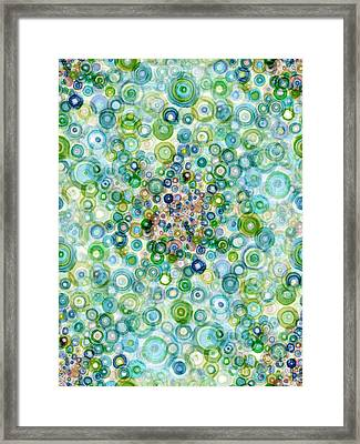 Teal And Olive Concavity Framed Print by Regina Valluzzi