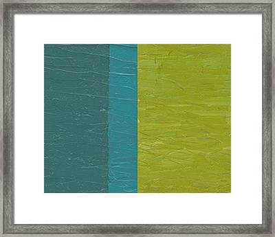 Teal And Olive  Framed Print by Michelle Calkins