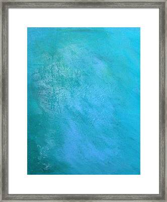 Framed Print featuring the painting Teal by Antonio Romero