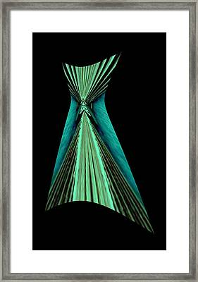 Teal Dress Framed Print by Mary Russell