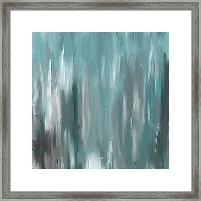 Teal Elegance Framed Print by Lourry Legarde