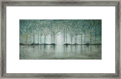 Teal Forest Framed Print
