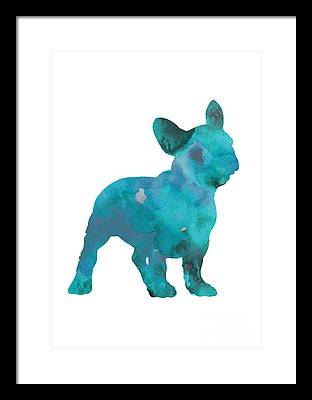 Dog Abstracts Framed Prints