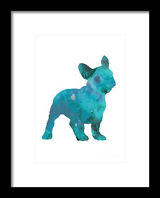 Dog Abstract Art Framed Prints