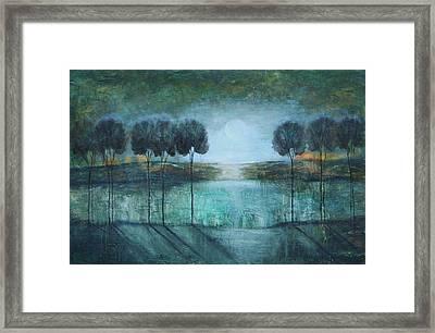 Teal Lake Framed Print