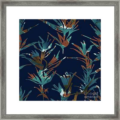 Teal Plantation Framed Print by Varpu Kronholm