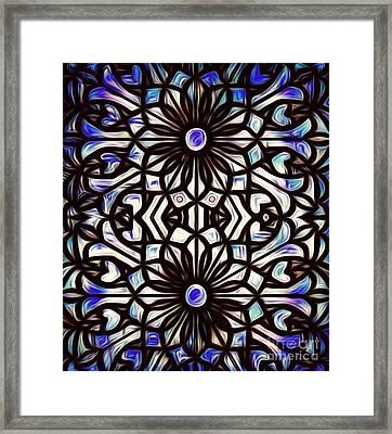 Teal Purple Vibe Framed Print