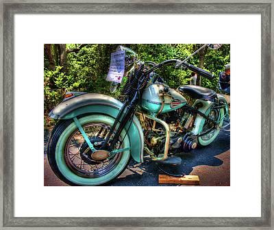 Teal Ride Framed Print