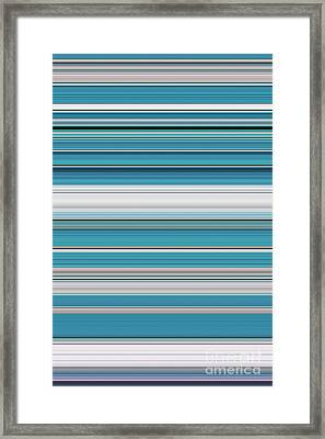 Teal Framed Print by Tim Gainey