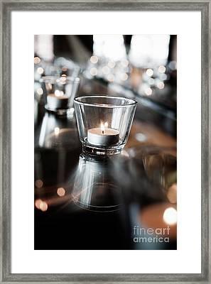 Tealights Framed Print