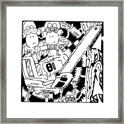 Team Of Monkeys Lumberjacks Framed Print