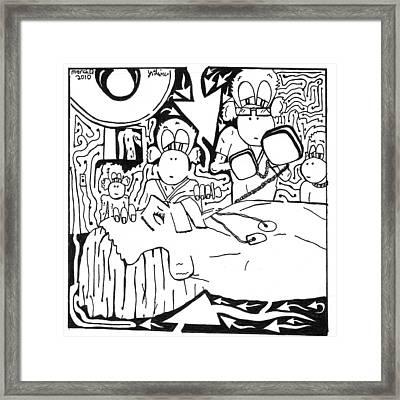 Team Of Monkeys Md Framed Print by Yonatan Frimer Maze Artist