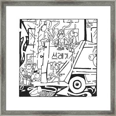 Team Of Monkeys Sanitation Engineering Framed Print