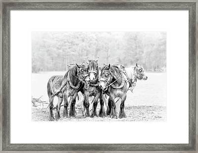 Team Work Framed Print