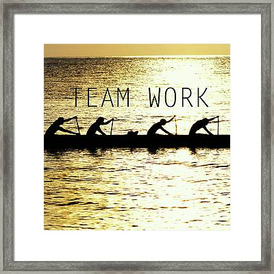 Team Work. Framed Print