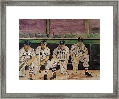 Teamates And Friends Framed Print by Thomas Lapriore