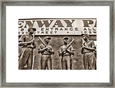 Teammates 2 Framed Print by Joann Vitali