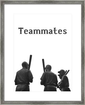 Teammates Poster - Boston Red Sox Framed Print by Joann Vitali
