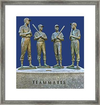 Teammates, Ted, Bobby, Dom And Johnny Framed Print by Allen Beatty