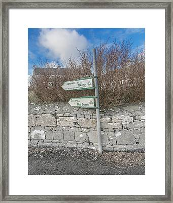 Teampall Sign Inis Mor Ireland Color Framed Print by Betsy Knapp