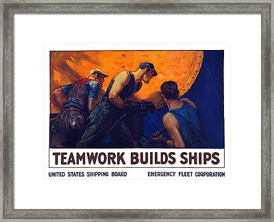 Teamwork Builds Ships Framed Print by War Is Hell Store