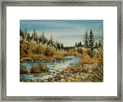 Teanoway River Wa Framed Print